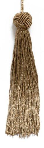 Set von 10Dark Sand gewebt Head Chainette Quaste, 14cm lang mit 5,1cm Loop, Basic Rand Collection Stil # bh055Dark Sand-A8 -