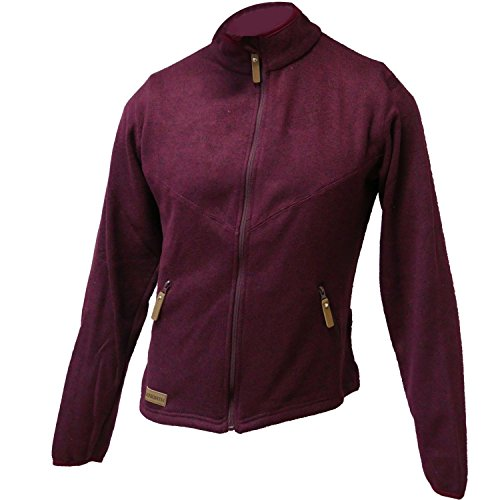 True North Damen 7916250-309 Outdoor Fleece Jacke TN Flatfleece Jacket Bordeaux - XL