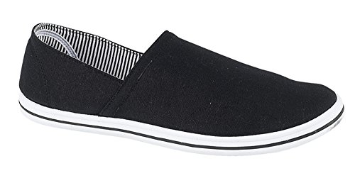 Unknown Urban - Alpargatas de lona para hombre, color negro, talla 44