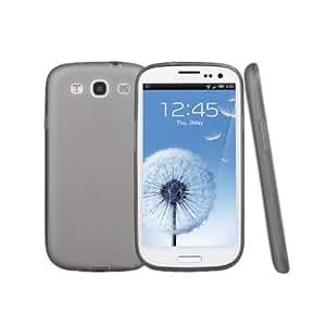 City Super Thin 0.5mm Samsung Galaxy S3 Coque silicone transparent souple Case Coque arrière de cas de Shell de cas de sac de poche de caisse dure de caisse molle de caisse Coque Hard Shell Coquen protecteur de protection de couverture de protection pour 3 III de Samsung Galaxy S3 i9300 I9305 Noir