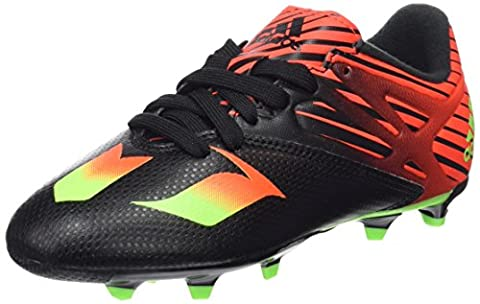 adidas Messi 15.3 Fg/Ag, Chaussures de Football garçon - Multicolore (Core Black/Solar Green/Solar Red), 37.5 EU