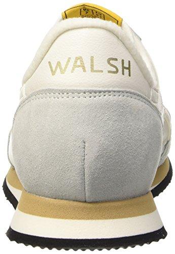 Walsh Tornado, Baskets Basses Mixte Adulte Blanc Cassé - Blanco / Gris