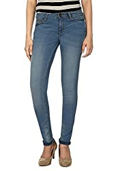 Allen Solly Womens Slim Jeans (AWDN1C00917_Blue_34)