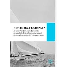 Cuaderno de Música Notebooks & Journals, Veleros (Colección Vintage), Extra Large: Tapa Blanda (17.78 x 25.4 cm)(Cuaderno Pentagramado, Libreta Pentagrama, Bloc de Música)
