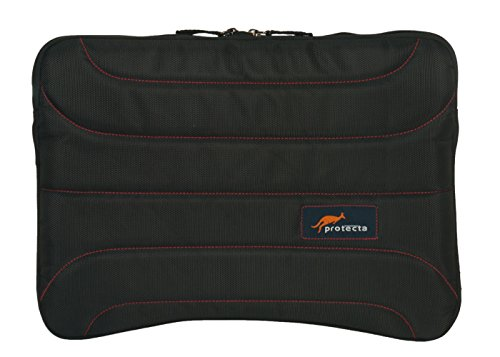 Protecta Memento Laptop Sleeve for Laptops with Screen Size Up to 15.6 Inches (Black & Red)