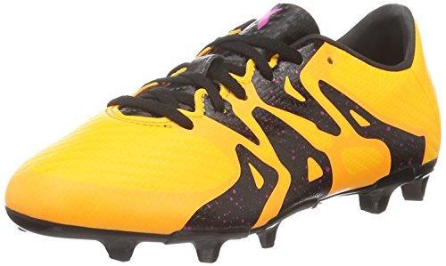 adidas Unisex-Kinder X 15.3 FG/AG Junior Fußballschuhe, Orange (Solar Gold/Schwarz/Shock Pink), 28 EU