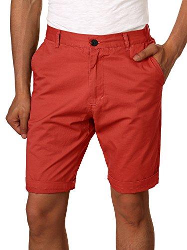 c7dc469858dc HEMOON Herren Cuba Shorts Bermuda Sommer kurze Hose Chino Basic Rot