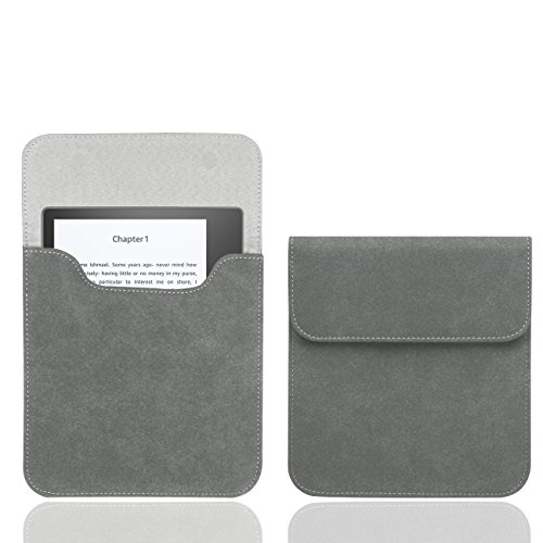 WALNEW 7'' Kindle Oasis Sleeve Case Ultra Light and Slim Protective Pouch Carrying Bag for Kindle Oasis Released in 2017 (7'' Kindle Oasis, Gray)