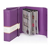 The Little Book of Necklaces - Purple necklace book holds 20 necklaces on 4 pages