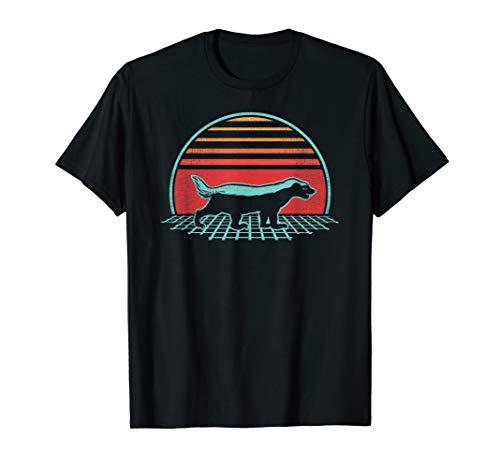Honig Dachs Retro Vintage 80er Jahre Geschenk T-Shirt -