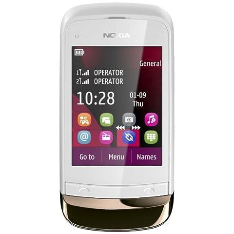 Nokia C2-03 Handy (6,6 cm (2,6 Zoll) Touchscreen Slider, Dual SIM, 2 Megapixel Kamera, Bluetooth)