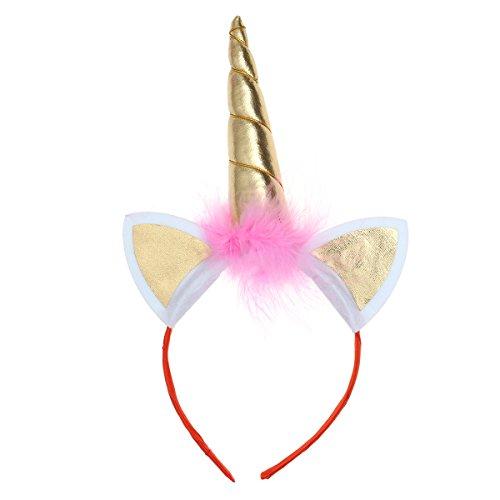 LUOEM Kinder Einhorn Horn Stirnband Glitter Einhorn Haarband -