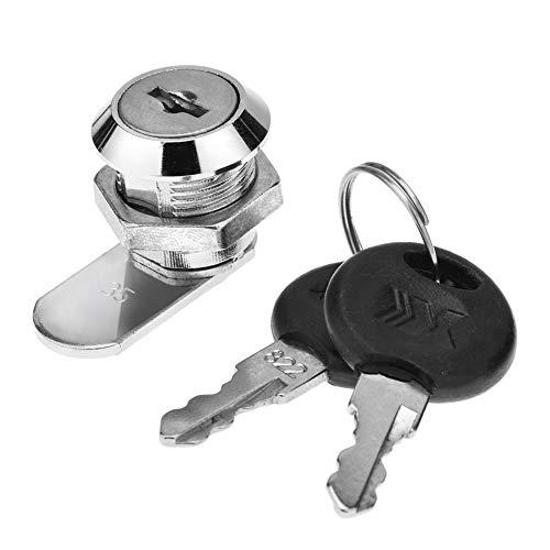 Starnearby Hardware Kaltgewalzter Stahl Sicherheits Schubladenschloss Schreibtisch Garderobenschrank mit 2 Schlüsseln