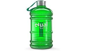 Dual Bottle/Water Jug/2,2L/Eau/bouteille/Idéal pour les besoins Eau quotidienne/Idéal pour le sport, Fitness et bouteille d'eau/Gallon/Water Gallon/Sport/Eau Gallon/Eau Gallon/dose d'eau optimale Pendant la journée (Vert)
