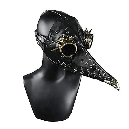 Dekoration, Halloween Punk Maskerade Maske, Adult Halloween Mittelalter Pest Doktor Vogel Maske für Adult Halloween Party Spukhaus, Terroristenpartei ()