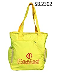 Polyester Fluorescent Color Easies Shopping Bag With Two Main Compartments