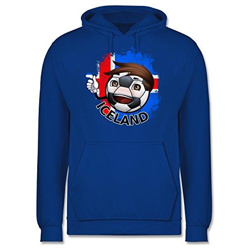 EM 2016 - Frankreich - Fußballjunge Island - Männer Premium Kapuzenpullover / Hoodie Royalblau
