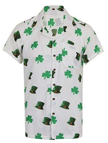 Hawaiian-Shirt-Saint-Patricks-Day-St-Patricks-Ireland-Irish-Clover-Leaf-Mens-Loud-Aloha-Dublin-Hawaii-Beer-Whisky-Stag-Leprechaun-Party-S-M-L-XL-XXL