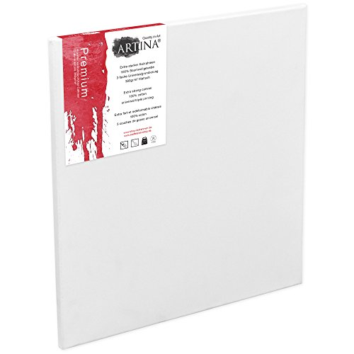 Great Buy for Artina 10 Blank Art Canvases 70 x 90 cm Premium Quality Artist Canvas Bulk Stretched & Triple Primed 27 x 35 Inch on Amazon