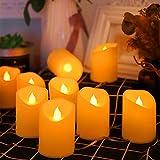 BLOOMWIN Catena Luminosa Candele a LED 10 Candele Senza Fiamma 1.6M Luci Decorative per Anniversario di Natale Matrimonio Ringraziamento Natale Halloween