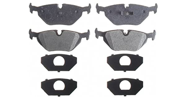 740iL 750iL Brake Pads /& Sensor Rear Ceramic with Shims For BMW  740i