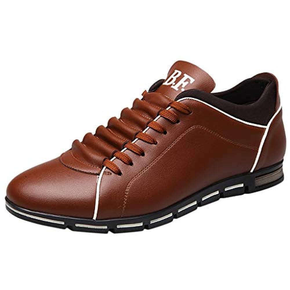 Dragon868 Herren Schuhe Schlichter Business-Halbschuh aus Leder mit Gummisohle atmungsaktivem Rutschfest Freizeitschuhe Slipper Sneaker