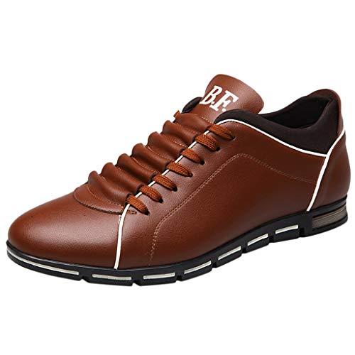 B-commerce Herrenmode arbeiten büro schuhe aus festem leder sport flache runde kappe einfachen stil casual schuheal Shoes