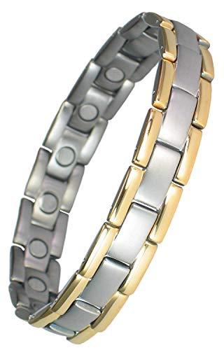 MPS® Polaris Titan magnetische Armband mit Klappschließe + FREI Geschenkbeutel + FREI Werkzeug -, um Links zu entfernen -
