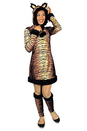 Panther Kostüm Damen Pink (Tiger Kostüm für Damen Gr. 44)