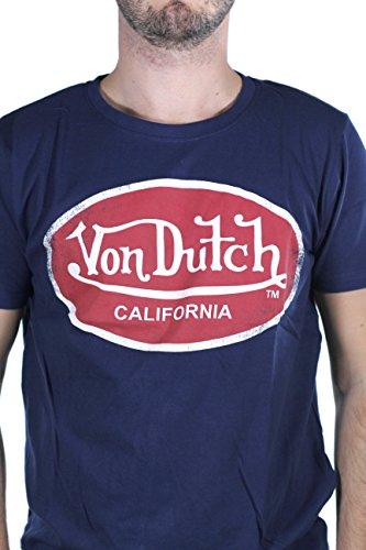 Von Dutch T-Hemd Aaron 13 Navy/Rot Bleu