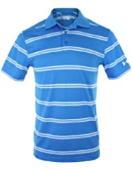 Under Armour Shirt Crestable Pique Stripe Polo - Polo para hombre, color azul, talla S
