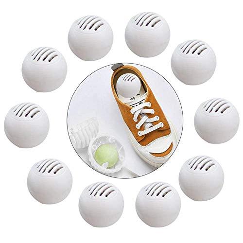 QUUY Schuhdeodorants - Desodorierende Bälle, Wiederverwendbare Sportschuhe Deodorierende Bälle für Turnschuhe, Schließfächer, Sporttaschen - auch ideal für Autos, Schließfächer oder Schubladen