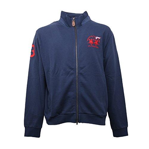 b5359-felpa-uomo-la-martina-blu-cardigan-sweatshirt-men-xxl
