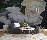 HONGYUANZHANG Retro Vintage Blume Tapete Des Foto-3D Künstlerische Landschafts-Fernsehhintergrund-Tapete,140Inch (H) X 172Inch (W)