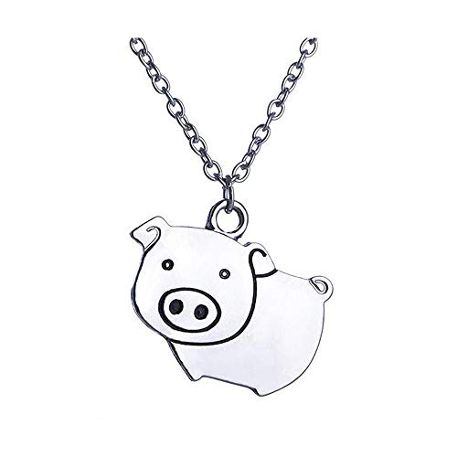 Loveu Jewelry Welpen-Schwein-Schattenbild-Anhänger-Halsketten-Edelstahl-Halsketten mit Kette für Haustier-Liebhaber 2018 Ankunft -