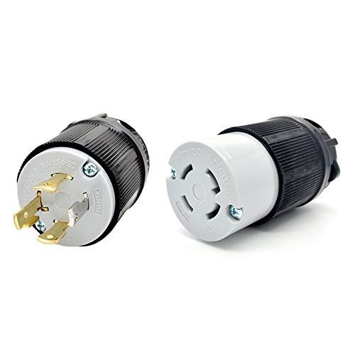 Generator Power Inlet (Sen-Sen NEMA L14-20 L14-30 Generator-Verriegelungsstecker 125 V 250 V 4-Stift-Stecker + Buchse schwarz L14-30)