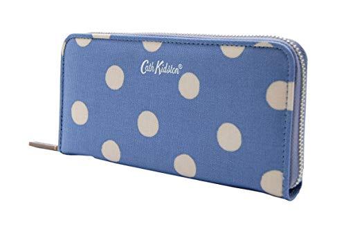 Geldbörse Continental Zip Wallet, blau weiß gepunktet groß blau mit weißen Punkten - Continental Zip