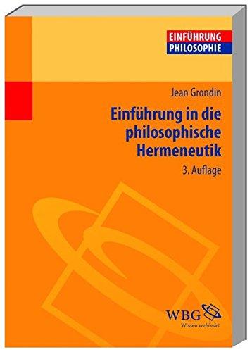 Einführung in die philosophische Hermeneutik