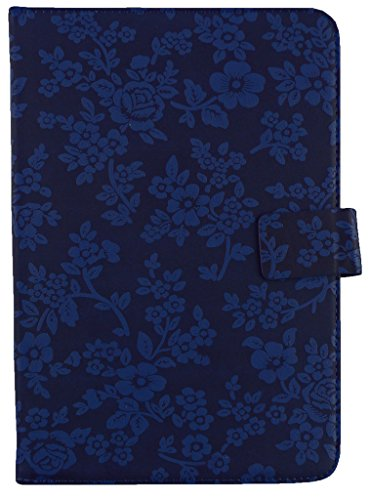 Emartbuy® Huion 420 Graphics Tablet 7 Inch Universal Range Blue Vintage Floral Multi Angle Executive Folio Wallet Case Cover With Card Slots + Stylus  available at amazon for Rs.729