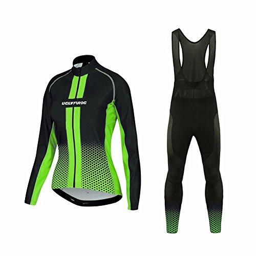 Uglyfrog #01 Damen Radsport Winter Fleece Trikots Lange Ärmel+ Lange Hosen Anzüge Sport & Freizeit Clothes