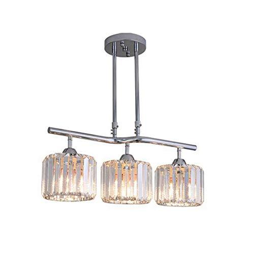 Sxuefang Kronleuchter Lüster hängelampe Kristall Hängelampe Crystal Restaurantlampe Hubstange Höhenverstellbar