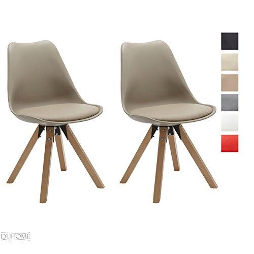 Stuhl Esszimmerstühle Küchenstühle !2 er Set! in CAPPUCCINO Küchenstuhl Holzbeine ...