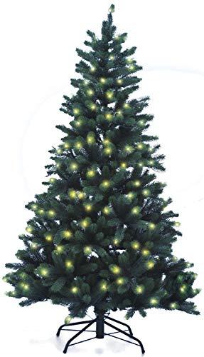Hochwertiger künstlicher Weihnachtsbaum PE-Spritzguss mit Beleuchtung (222 LEDs, 10W), Höhe: 180cm / Ø110cm (PE-BM180)