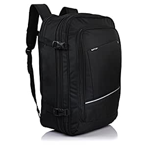 Suntop Voyager 42 litres Expandable & Convertible 3 Way Travel Carry-On Backpack (Black Colour)