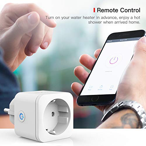 Enchufe Inteligente Wi-Fi, TECKIN Mini Smart Outlet. Para Amazon Alexa, Echo, Google Home, IFTTT. Con Temporizador