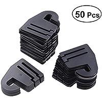 BESTOMZ Plástico Corbata Gancho de Suspensión Ajustable para Tie Bufanda de Plástico Gancho para Armario Organizador de Almacenamiento 50 Piezas