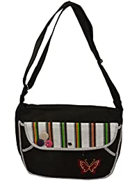 side bags for girls for college (Black)