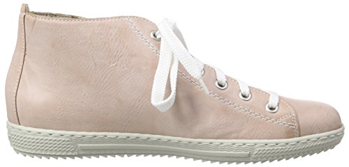 Rieker L9413, Sneakers Hautes femme Rouge (rose/white-silver / 31)