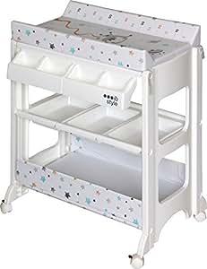 ib style wickeltisch mit badewanne wickelkommode auf rollen gro e auswahl astronaut. Black Bedroom Furniture Sets. Home Design Ideas