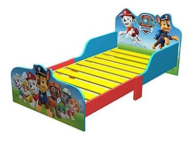 Paw Patrol Wooden Kids Junior Toddler Bed- Everest, Chase, Marshall, Skye, Rocky, Zuma.